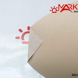 Рулонная штора с тканью Айс жемчуг корица (Германия)
