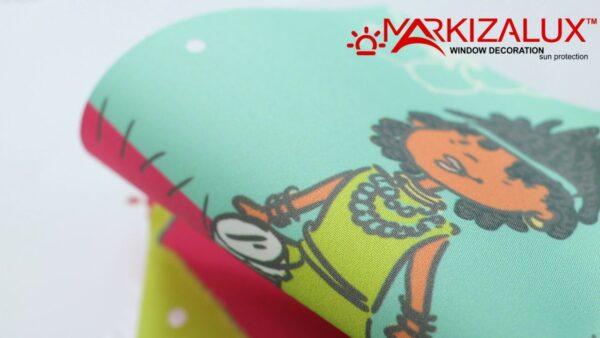 kids dzhingls1 600x338 - Рулонная штора с тканью Кидс джингл (Польша)