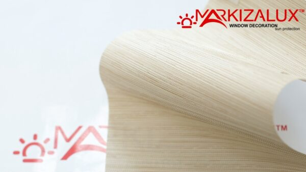 Рулонная штора с тканью Сафари blackout жемчуг мокко (Германия)