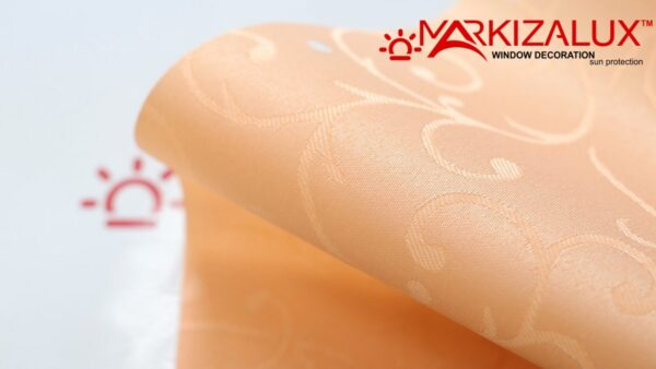 Рулонная штора с тканью Вальс коралл (Польша)